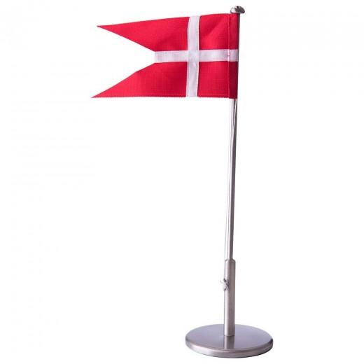 Fortinnet flagstang 40cm m/ dåbsfod 150-760-32