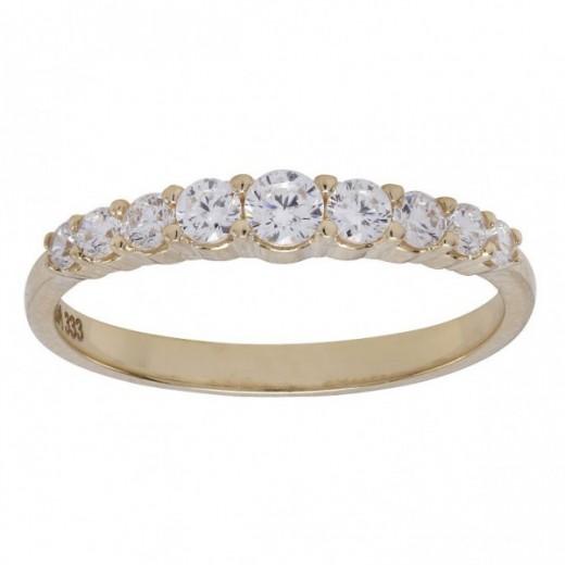 Nordahl Andersen 8kt Guld ring med syn. zirkonia 183 004CZ3-31