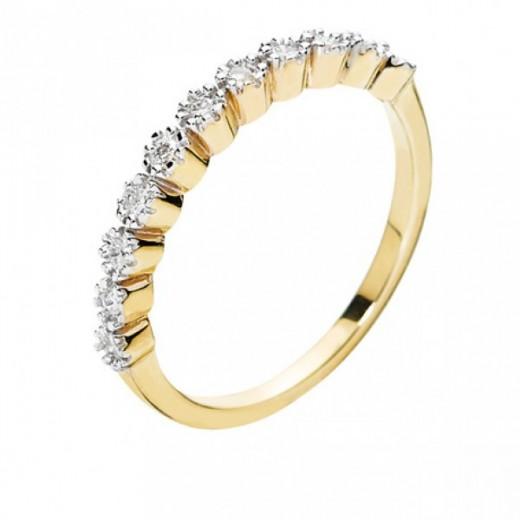 Lund Copenhagen Alliancering 8 kt. guld med Diamanter 307783-0,21-31