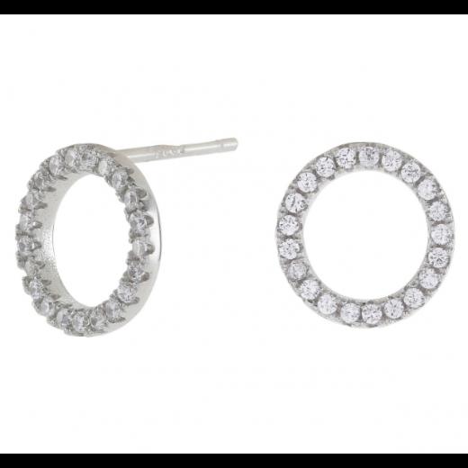 Joanli Nor sølv ANNA cirkel ørestik med zirkonia 10mm 345 047-31