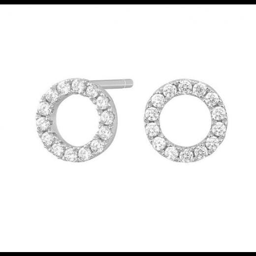 Joanli Nor sølv ANNA cirkel ørestik 8mm 345 068-31