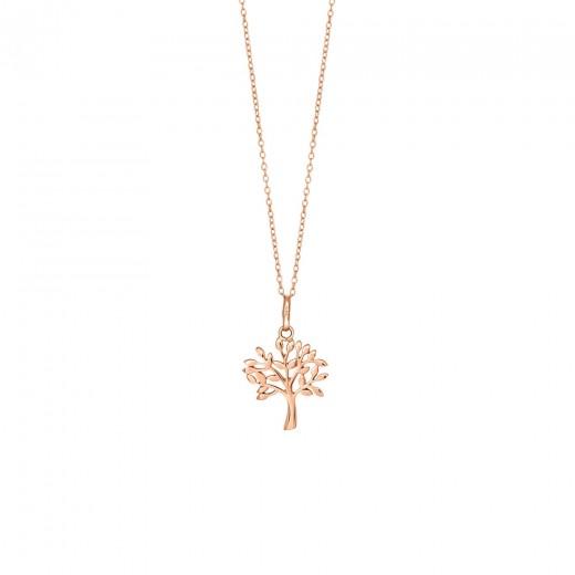 Nordahl Jewellery Rosaforgyldt TREE halskæde med Zirkonia 825 756-4-31