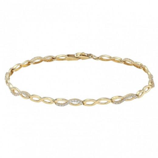 Nordahl Andersen Infinity 8kt Guld Armbånd med zirkonia 882 068 3-31