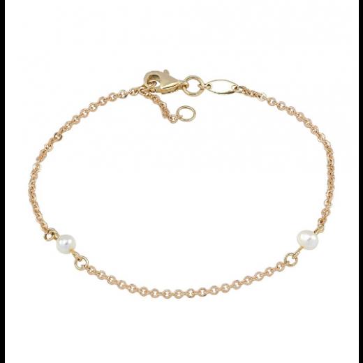Nordahl Andersen Perlearmbånd 8 kt. Guld 882 055 3-32