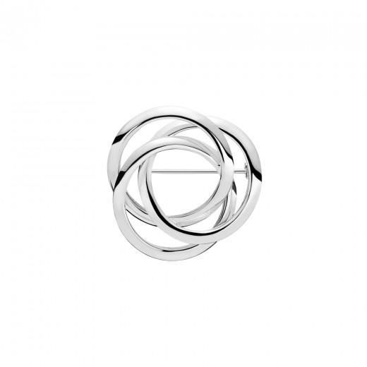 Lund Copenhagen Sølv Broche med 3 Ringe 9048952-31