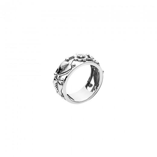 Lund Copenhagen Sølv Ring med Blomster og Blade 9071018-OX-31