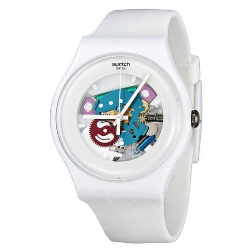 "Swatch ""White Lacquered"" SUOW100-31"