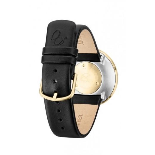 Arne Jacobsen Bankers 40mm 53108-2001G doublé med sort læder rem-01