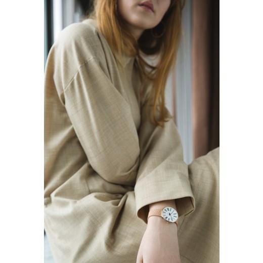 Arne Jacobsen Roman 34mm 53311-1611 Rose Doublé mesh lænke-01