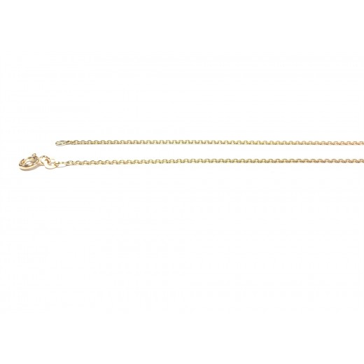 BNH 14kt Guld Anker Facet Halskæde 0,4mm/45cm-31