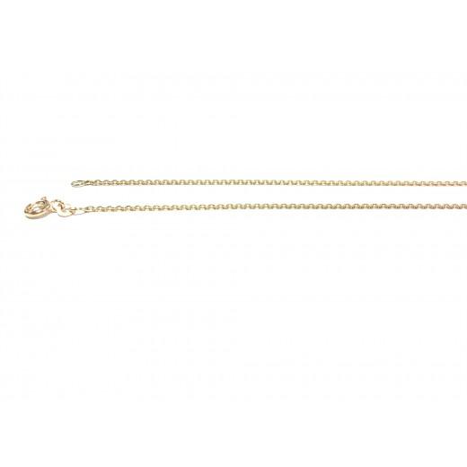 BNH 8kt Guld Anker Facet Halskæde 0,4/1,3mm 50cm-31
