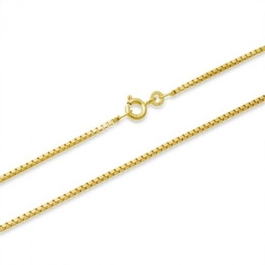 BNH 8kt Guld Venezia Halskæde 0,9/0,8mm 55cm-31