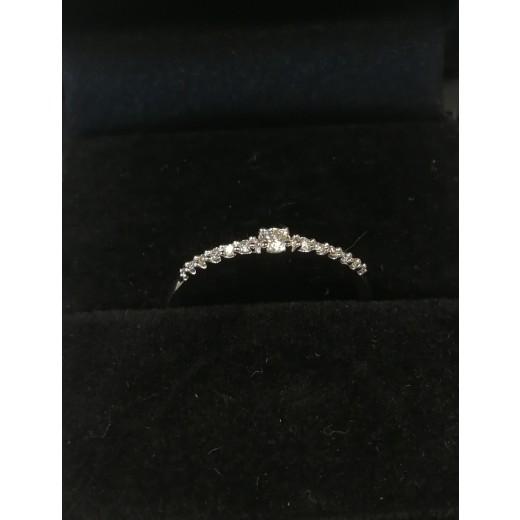 14kt Hvidgulds Ring med i alt 0,12ct Diamanter-31