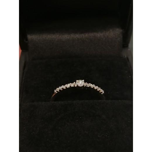 14kt Guld Ring med i alt 0,12ct Diamanter-31
