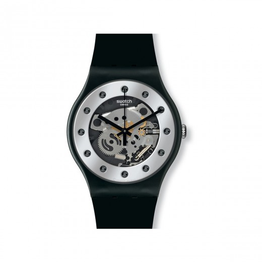 "Swatch ""Silver Glam"" SUOZ147-31"