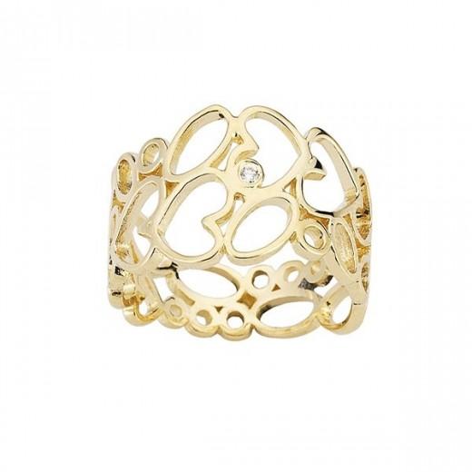 Nuran Loveday 14kt Guld Ring med Brilliant R2943-31