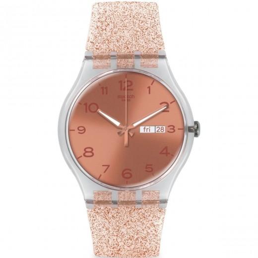 """Swatch """"Pink Glistar"""" SUOK703-31"""