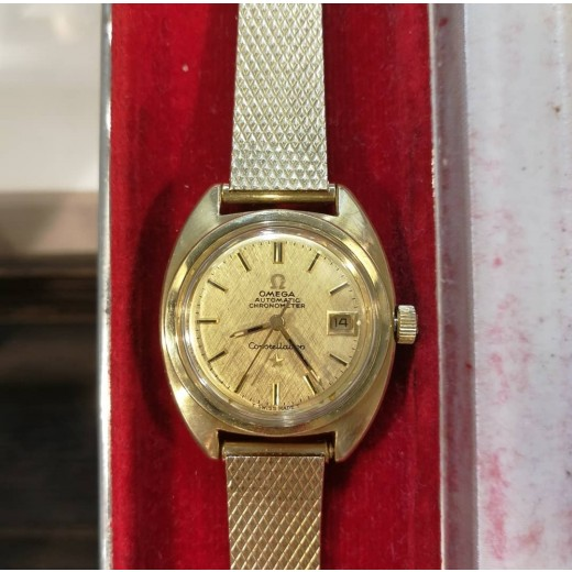 Omega Constellation Lady Automatik Chronometer 14kt guld/Stål-31