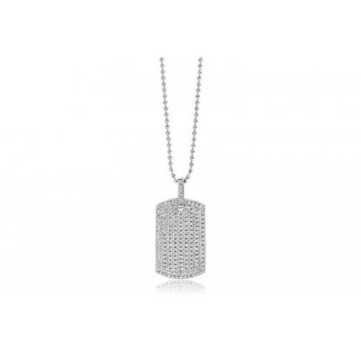 Sif jakobs gemmano sølv plade med zirkonia SJ-P1015-CZ-31