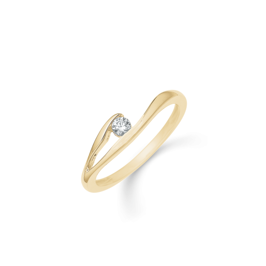Støvring Design 14kt Guld Ring med Zirkonia 72245006-31