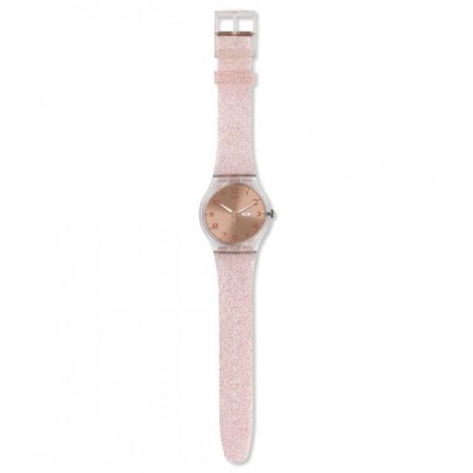 """Swatch """"Pink Glistar"""" SUOK703-01"""