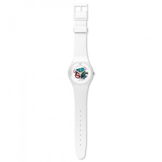 "Swatch ""White Lacquered"" SUOW100-01"