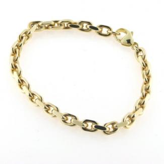 BNH 14kt Guld Anker Facet Armbånd 0,7/1,8mm 18,5cm BNA1407001C-20