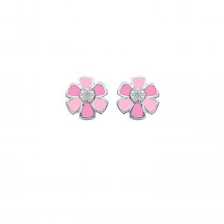 SmykkeLine 2-Farvet Blomst i Pink 10223312-20