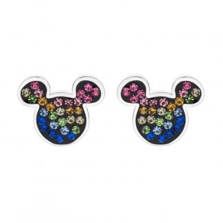 Disney Micky Mouse Ørestik i Sølv med Farvet Zirkonia 10333001-20