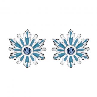 Disney Frost Sølv Ørestik med Blå Snefnug og Zirkonia 10333007-20