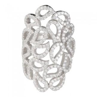 Joanli Nor Ring ALAINE sølv med synt. zirkonia 145 020-20