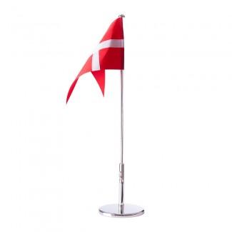 Forkromet flagstang 30cm m/ blank fod 150-810-20