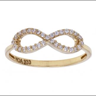 Nordahl Andersen Infinity Ring 8 ct. Guld 183 014CZ3-20