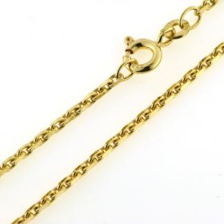 BNH 8kt Guld Anker Facet Armbånd 0,50/1,4mm 18,5cm BNA14040185F-20