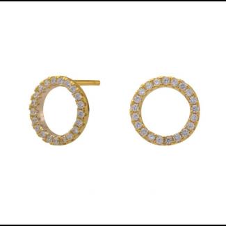 Joanli Nor ANNA cirkel forgyldt ørestik cz 10mm 345 047-3-20