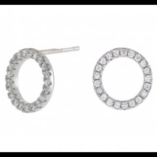 Joanli Nor sølv ANNA cirkel ørestik med zirkonia 10mm 345 047-20
