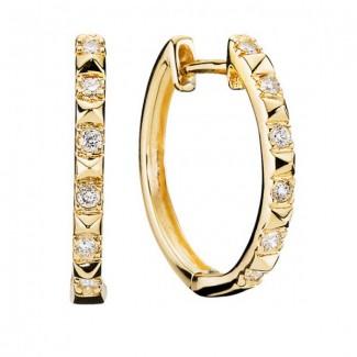 Lund Copehagen Creoler 14 kt. 12 Diamanter 1937-509814-0,13-20