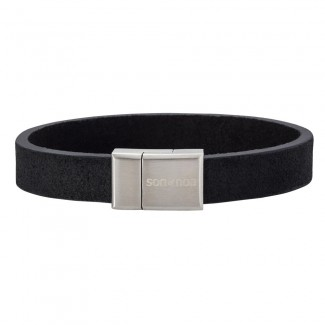 Son bracelet black calf leather 21cm 897 004-20