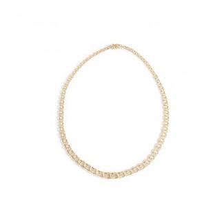 BNH 8kt Guld Ligeløb Bismark Halskæde 4,0 mm /50cm-20