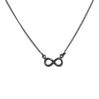NOA damesmykker oxyderet halskæde m. uendeligheds tegn 825 612-20