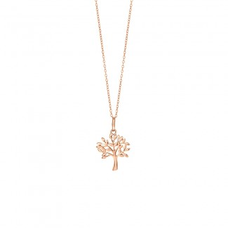 Nordahl Jewellery Rosaforgyldt TREE halskæde med Zirkonia 825 756-4-20