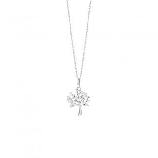 Nordahl Jewellery Sølv TREE halskæde i Sølv med Zirkonia 825 756-20