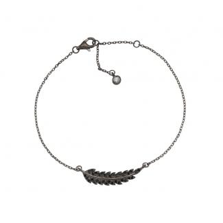 Joanli Nor sort rhd. sølv armbånd-20