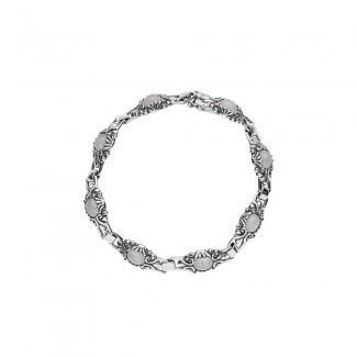 Lund Copenhagen Sølv armbånd med Rosakvarts 9011032-23-OX-20