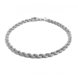 BNH Sølv Cordel Amrbånd 3,2mm 18,5cm-20