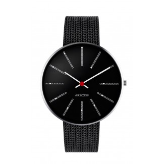 Arne Jacobsen Bankers 40mm 53104-1601 sort mesh lænke-20