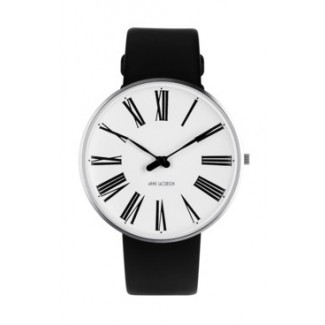 Arne Jacobsen Roman 40mm 53302-2001 med sort læder rem-20