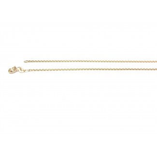 BNH 14kt Guld Anker Facet Halskæde 0,4/1,3mm 42cm-20