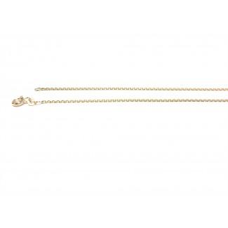 BNH 14kt Guld Anker Facet Halskæde 0,4/1,3mm 45cm-20