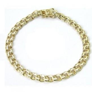 BNH 8kt Guld Ligeløb Bismark Halskæde 4,0mm/45cm-20